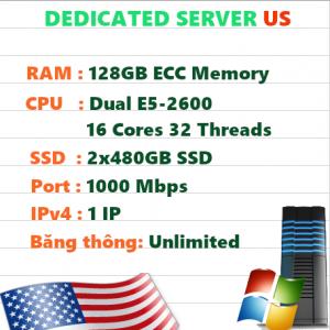 Dedicate Server US RAM 192