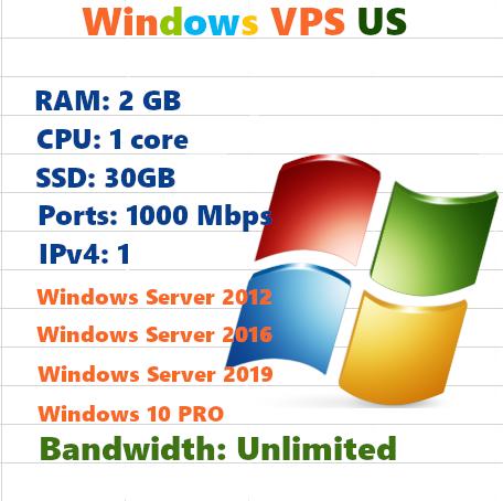 VPS US RAM 2 CPU 1