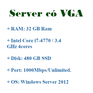 VPS Server có VGA treo giả lập Android Bluestacks, Noxplayer, LDplayer