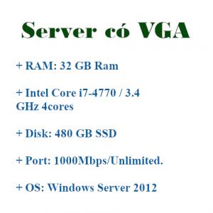 VPS Server có VGA treo giả lập Android Bluestacks, Noxplayer, LDplayer
