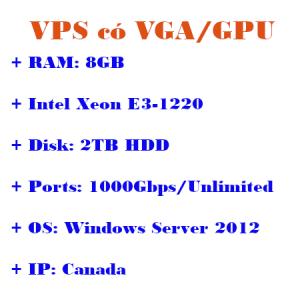VPS có VGA/GPU IP Pháp