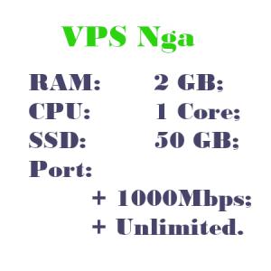 Thue VPS Nga RAM 2 CPU 1