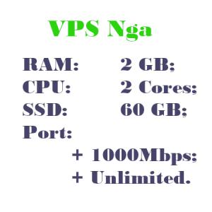 Thue VPS Nga RAM 2 CPU 2