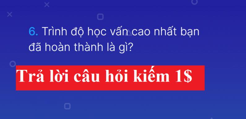 Trả lời câu hỏi kiếm tiền với Surveytime.app – Hướng dẫn trả lời