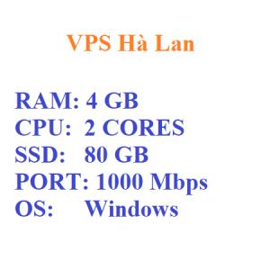 VPS Ha Lan RAM 4GB